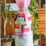 .ポジャギ 麻の素敵なボトルケース