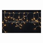 LEDイルミネーション、アイシクル(ツララ)、常点、140球、電球色(オレンジゴールド)