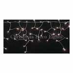 LEDイルミネーション、アイシクル(ツララ)、常点、プロ仕様(V4)、140球、電球色(ピンクゴールド)