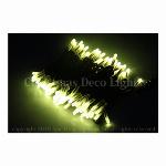 LEDイルミネーション、ストリング(ストレート)、常点、プロ仕様(V4)、100球、黒コード、レモンイエロー