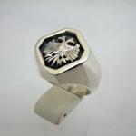 シルバーアクセサリー◆双頭の鷲◆男性用シルバーリング