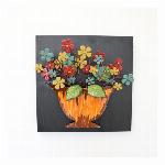アンティーク調 ウォールアート オレンジ(壁掛け、壁飾り)