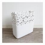 【モダンテイスト】陶器フラワーベース(花瓶) ホワイト