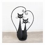 【直送可】プランター(鉢カバー) ネコ 黒