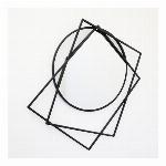 【直送可】モダンテイスト ウォールアートアイアンミラー(鏡) 壁飾り