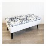 【直送可】【大型商品A】モダンテイスト 収納ベンチスツール 椅子 白
