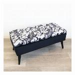 【直送可】【大型商品A】モダンテイスト 収納ベンチスツール 椅子 黒