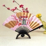 雛飾り扇 (かんざし台付)