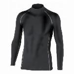 JW-170 BTパワーストレッチ ハイネックシャツ ブラック サイズ:S