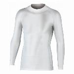 JW-170 BTパワーストレッチ ハイネックシャツ ホワイト サイズ:LL