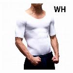 HIRO 加圧シャツ ホワイト【M-Lサイズ】