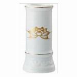 線香立て ミニ 陶器(白磁)
