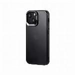 iPhone 13 mini スタンド付耐衝撃ハイブリッドケース「SHELL STAND」 フロストブラック LP-IS21SHSBK