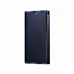 iPhone 13 mini 薄型PUレザーフラップケース「PRIME」 ネイビー LP-IS21PRINV