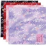 風呂敷 桜しぼり/ピンク・赤・紫・黒