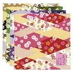風呂敷 桜ちらし/赤・黒・紫・桃