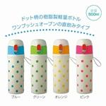 【MT-27029】ポルカドット 直飲みマイボトル500ml★250円