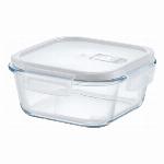 HO-03 Home Meal -ホームミール-耐熱ガラス保存容器 蒸気弁付き正方形 800ml 69-05003