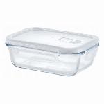 HO-04 Home Meal -ホームミール-耐熱ガラス保存容器 蒸気弁付き長方形 600ml 69-05004