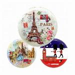 アンティーク 小物入れ PARIS 缶 LONDON イギリス フランス パリ イヤホン ケース おしゃれ