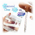 韓国 ダイアモンド クリア スライム 大容量 無色 透明 オリジナル 伸びる 海外 DIY シンプル