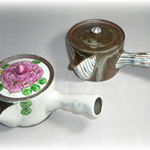 茶碗・湯呑 (遊ねこ・有田焼・手書き)