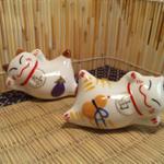 箸置きにも使える小物雑貨 福福招き猫
