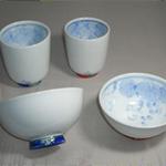 茶碗・湯呑 (京十草手造り・有田焼・手書き)