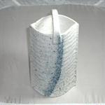 花瓶 (吹き木の葉/美濃焼・茶)
