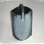 花瓶 (吹き木の葉/美濃焼・白)