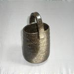 花瓶 (吹き木の葉/美濃焼・黒)