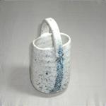 花瓶 (吹き手付/美濃焼・茶・小)