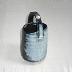 花瓶 (吹き手付/美濃焼・白・小)