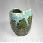 花瓶 (白流片口/美濃焼・紺・小)