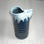 花瓶 (白流片口/美濃焼・緑・小)