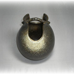 花瓶 (吹き筒/美濃焼・黒・大)