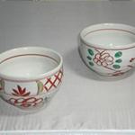 たっぷり碗 (上格子大花/美濃焼)