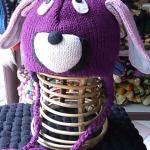 アニマルニット帽子(犬)