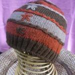 デザインニット帽子