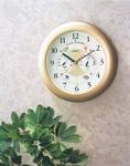 【日本製、高精度高品質】スーパーEX温度・時計・湿度計
