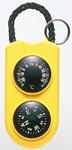 【キーホルダータイプ温度・方位磁石。サーモ&コンパス】