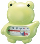 【日本製、お風呂に浮かぶキャラクターが人気】うきうきトリオ(浮型湯温計)カエル