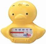 【日本製、お風呂に浮かぶキャラクターが人気】うきうきトリオ(浮型湯温計)ヒヨコ