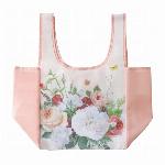 コンビニエコバッグ ガーデンローズ ピンク
