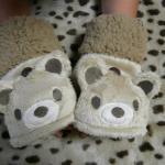 キッズ用 アニマルシリーズ フワフワ猫ちゃん+クマちゃんのフード付き手袋