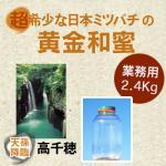 プロ必見/業務用/食品原料/非加熱/野生日本みつばちの蜂蜜/宮崎県産2.4kg