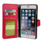 iPhone 6 plus レザーケース 合皮 ピンク