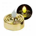 YuRa LEDティーライトキャンドル(ゴールド)(発光:黄色)