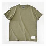 【325】ユースフル スタンダード Tシャツ 無地 カジュアル レザータグ メンズ  グリーン