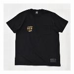 【325】スモールロゴ  ジャストフィット ポケットTシャツ メンズ  ブラック